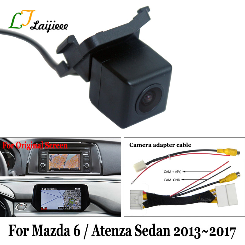 For Mazda 6 Atenza Mazda6 Sedan 2013 2017 HD Car Rear Backup Reverse Camera  amp  RCA Adapter Cable Compatible OEM Monitor Screen