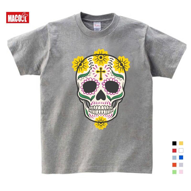 Купить детская одежда 2020 дети милые комплекты с принтом «череп» футболка