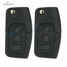цена на Remtekey 2pcs 3M5T 15K601 AB 3 button 433 Mhz ID63 Chip For Ford B-Max Fiesta Focus Galaxy Kuga S-Max 2008 2009 2010 2011