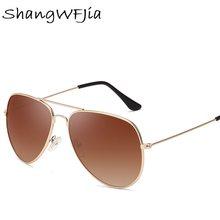 Feijão vermelho piloto aviação óculos de sol menshades retro clássico prata óculos de sol feminino masculino marca luxo designer lunette