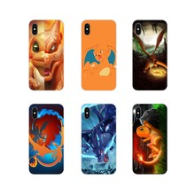 Silicone Skin Cover For Apple iPhone X XR XS 11Pro MAX 4S 5S 5C SE 6S 7 8 Plus ipod touch 5 6 Coon Pokemons Charizard Charmander(China)