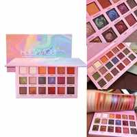 18 Colors Matte Pearlescent Pigment Glitter Powder Eyeshadow Palette Shimmer Waterproof Eye Shadow Primer Makeup Highlight TSLM2