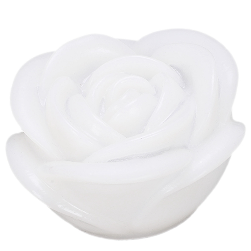 ABFU-7 Color Romantic Changing LED Floating Rose Flower Candle Night Light