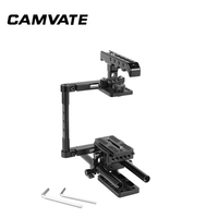 CAMVATE Half Cage Kit With Top Cheese Handle & QR Manfrotto Plate & 15mm Rod Support For DSLR Cameras C2276
