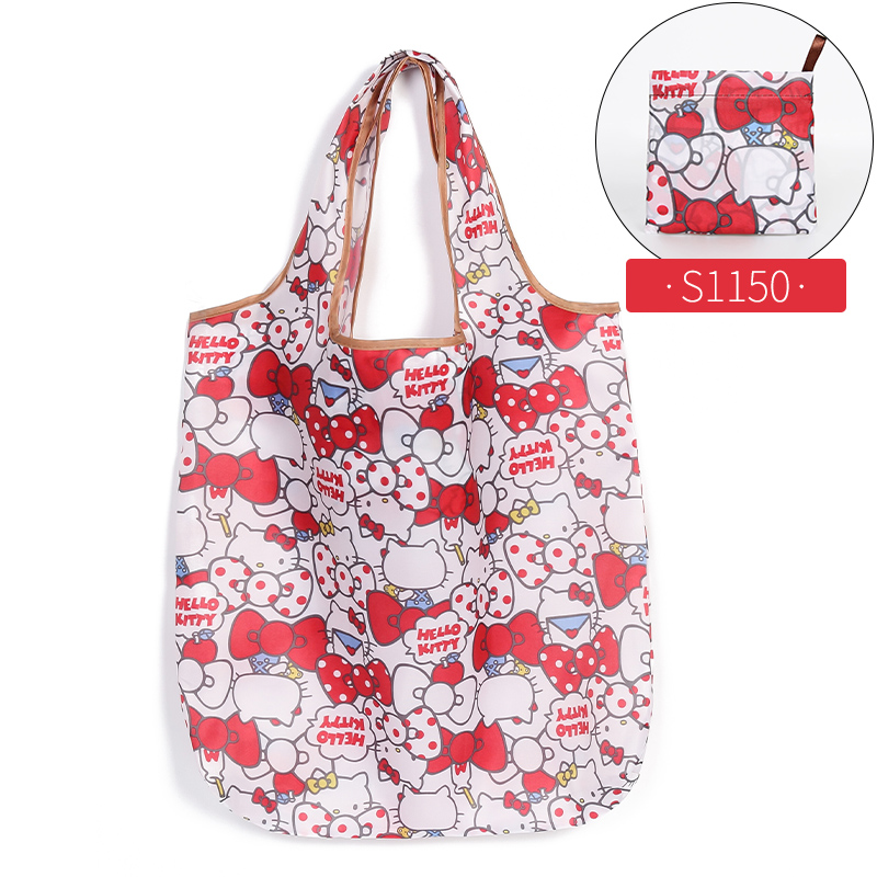 Reusable Eco-Friendly Grocery Foldable Shopping Bags Small Size Premium Quality Slight Duty Folding Tote Bag With Handle