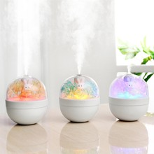 Mini USB Car Air Humidifier Aromatherapy Essential Oil Diffuser LED Light Auto Home Electricity Clean Care  #BL30
