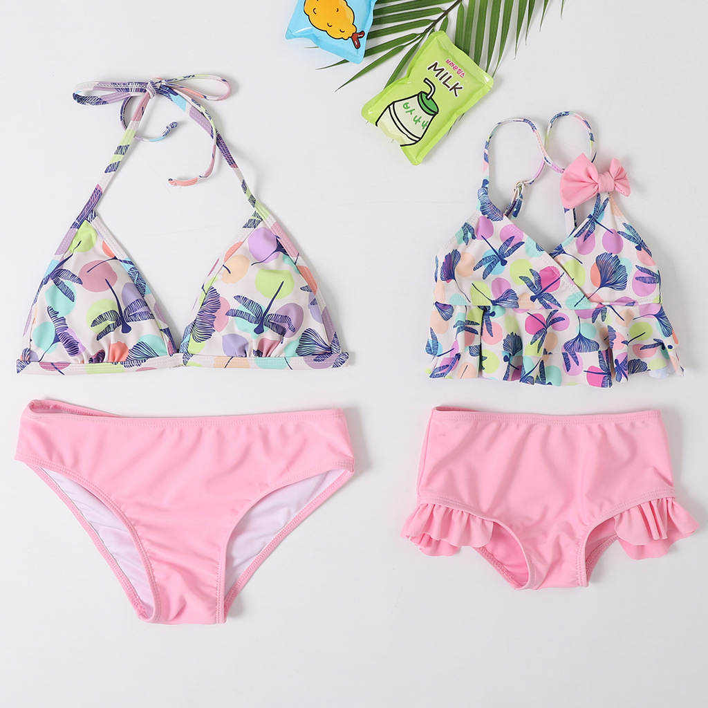 Beach Mother Daughter Bikini Swimsuits Mommy And Me Swimwear Clothes Family Matching Outfits Look Mom And Baby Bath Suit Dresses