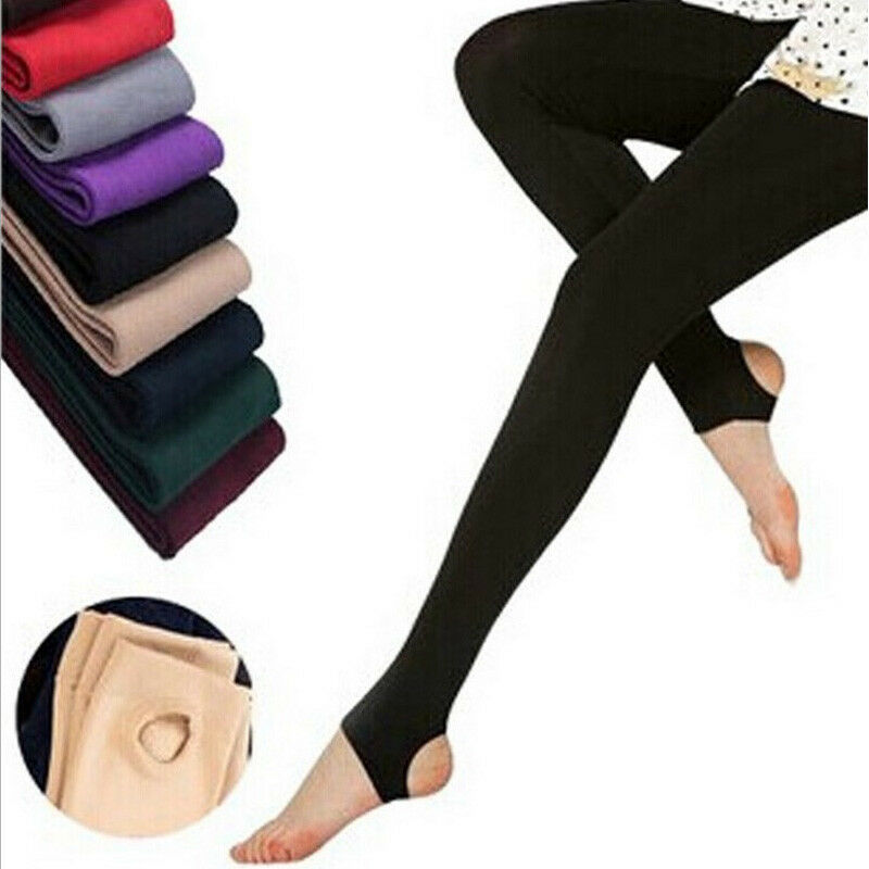 Women Warm Soft Winter Lined Skinny Slim Leggings Stretch Pants Fleece Lined Trousers New