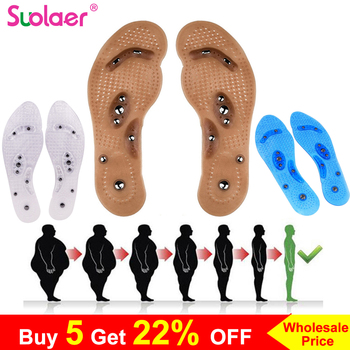 Body Detox Slimming Magnetic Foot Acupuncture Point Therapy Insole Cushion Massager Brioche Comfort Massage Shoe Pads Therapy 1