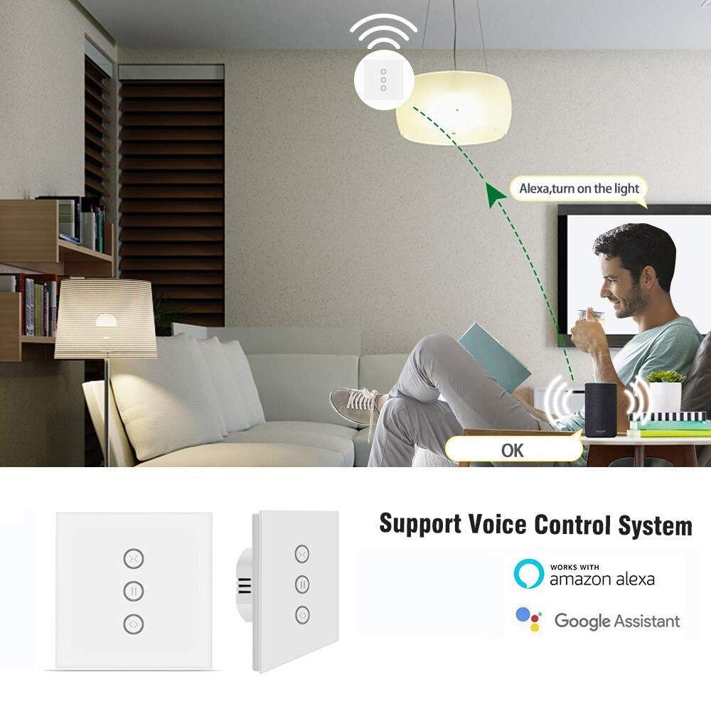 Zigbee умный занавес переключатель ЕС/США для рольставни Электрический мотор Google Home Alexa Голосовое управление DIY умный дом Питание от Tuya