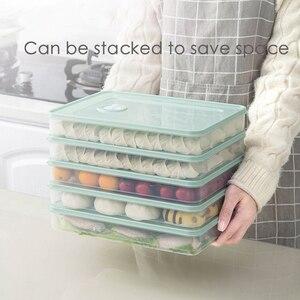 Food Storage Container Fridge Crisper Keep Food Fresh for Fruits Vegetable Dumplings