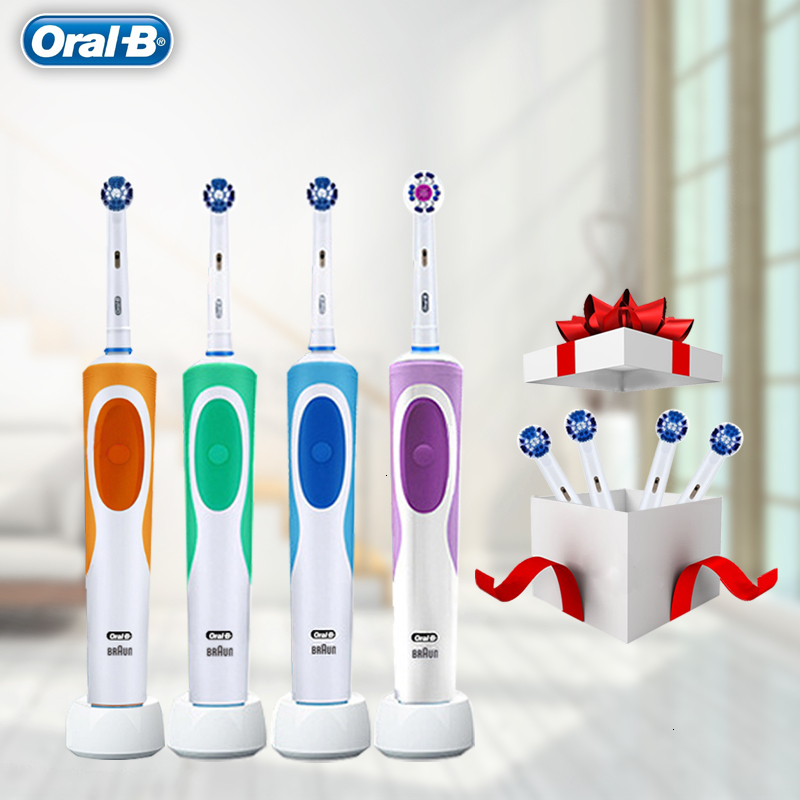 Original Oral B Vitality Electric Toothbrush 2 Minutes Timer Precision Clean Rechargeable OralB Teeth Brush Heads image