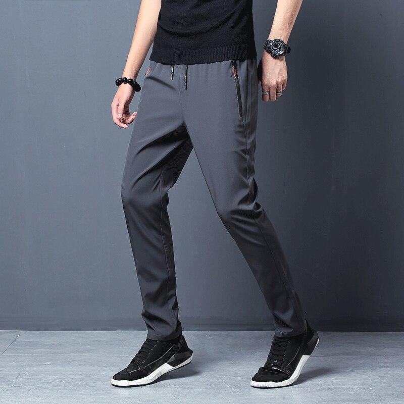 2021 New Men Pants Joggers Fitness Casual Quick Dry Outdoor Sweatpants Breathable Slim Elasticity Trouser Plus Size Men Pants 4