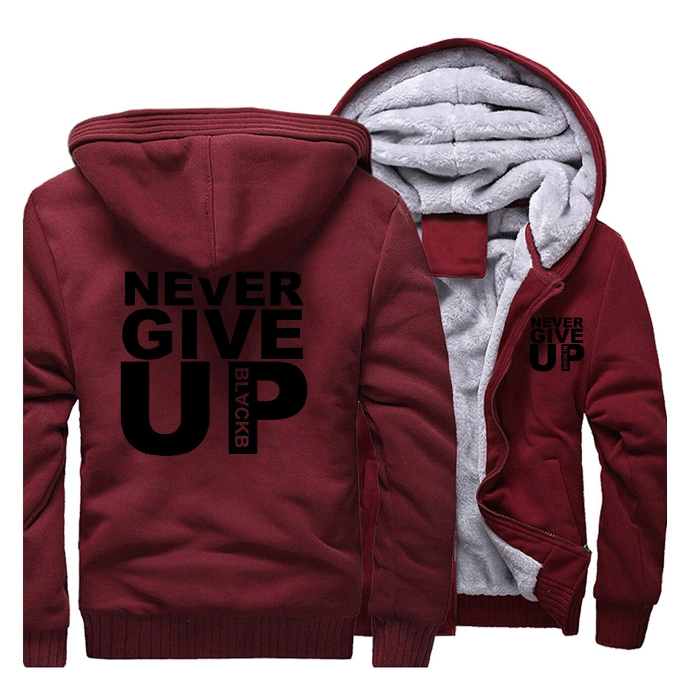 You Never Walk Alone Never Give Up Liverpool Fleece Thick  Hoodies Men Sportswear 2019 Casual Warm Sweatshirt  Streetwear Jacket