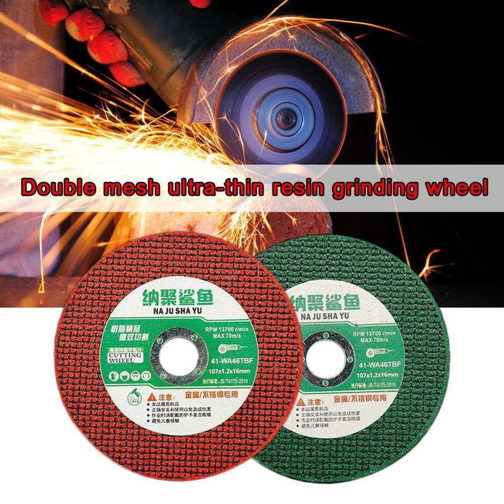 Cutting Discs 100 Angle Grinder Stainless Steel Metal Grinding Wheel Resin 105*1.2*16 Double Mesh Ultra-Thin Polishing Piece