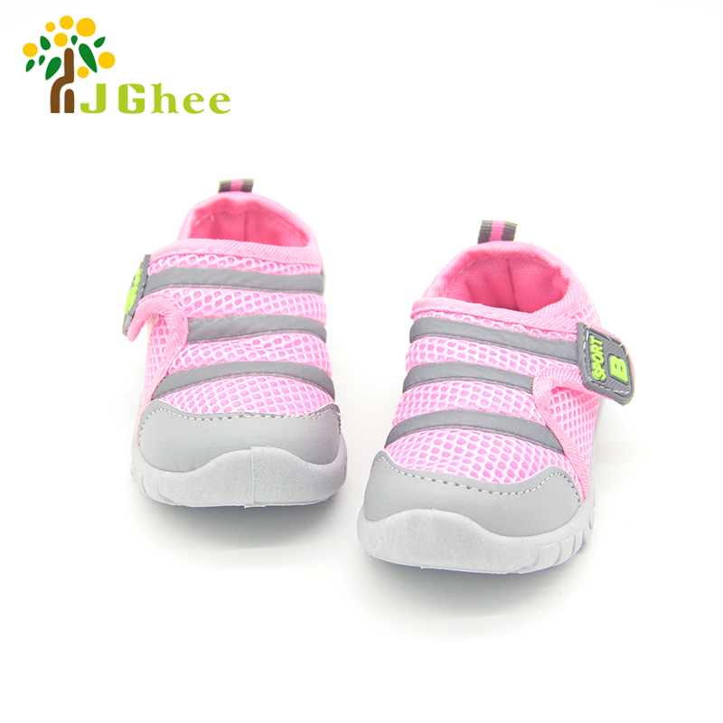 Stock Boys Girls Shoes Blue Pink Color For Kids Breathable Running Children Sneakers Air Mesh Casual Kids Shoes For Boys Girls
