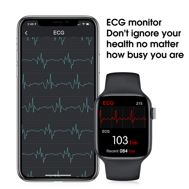 LEMFO W26 1.75 Inch 320*385 HD Screen Smart Watch 2020 ECG Body Temperature Bluetooth Call IP68 Waterproof Men SmartWatch IWO 6