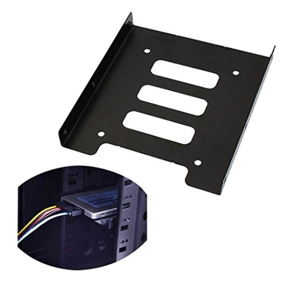 2.5 Inch <font><b>SSD</b></font> HDD to <font><b>3.5</b></font> Inch Metal Mounting <font><b>Adapter</b></font> Bracket Dock Hard Drive Holder for PC Hard Drive image