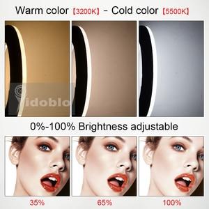 Image 4 - Yidoblo FD 480II Led حلقة ضوء المصباح 18 بوصة الأبيض ثنائي اللون استوديو LED مصباح الفيديو الإضاءة التصوير الفوتوغرافي 96 واط 5500 كيلو 480LED أضواء