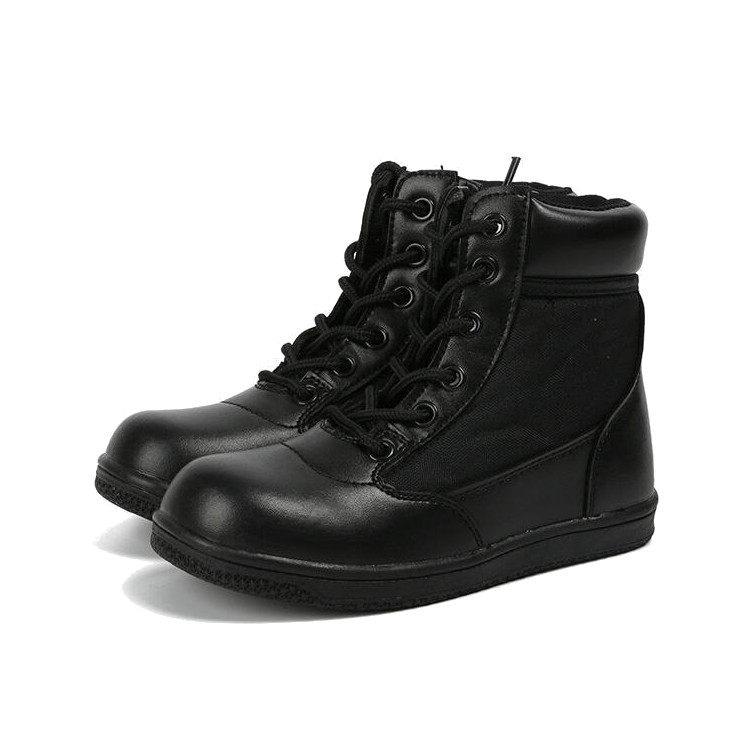 NEW BOYS MILITARY COMBAT LINED WINTER BOOTS WARM BLACK ZIP LACES SCHOOL SHOES UK