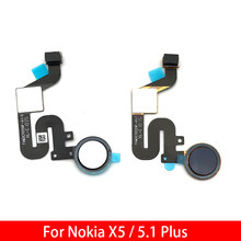 "For Nokia 5.1 Plus / X5 TA-1109 5.86"" Fingerprint Sensor Scanner Touch ID Connecter Flex Cable(China)"