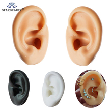 1Pc Soft Silicone Ear Model Tools Professional Practice Piercing Tools Earring Ear Stud Display Tools Can Be Reused Body Jewelry cheap STARBEAUTY CN(Origin) None Fashion Plug Tunnel Jewelry Trendy MM1668 Round Ear Piercing Ear Stud Earring Skin Black white