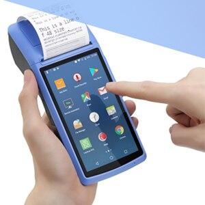Портативный терминал POS Android PDA устройство Bluetooth термальный принтер 58 мм NFC Bluetooth Беспроводная Бесплатная POS система Loyverse POS