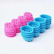 Silikon sabun kalıp 4 bölme masaj Bar sabunu yapma aracı tek delik kalıpları