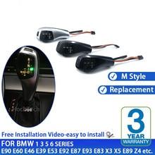 Para BMW 1 3 5 6 Série E90 E60 E46 2D 4D E39 E53 E92 E87 E93 E83 X3 E89 LEVOU Acessórios Engrenagem Alavanca de Mudança Knob Shifter Automático
