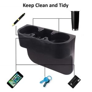 Image 3 - 車のカップホルダーオートシートギャップフィラー水カップボトル缶電話キー収納ホルダースタンドカースタイリングアクセサリー