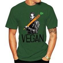2021 T-shirt O morto andando o negan um vegan marca personalizada-roupas novidade homme pescoço preto homem superior solto