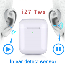 i27 1:1 Wireless Headphones Gaming headset Bluetooth 5.0 Earphone 3D bass Touch For xiaomi iPhone huawei i25 Pk i12 i20 i30 tws
