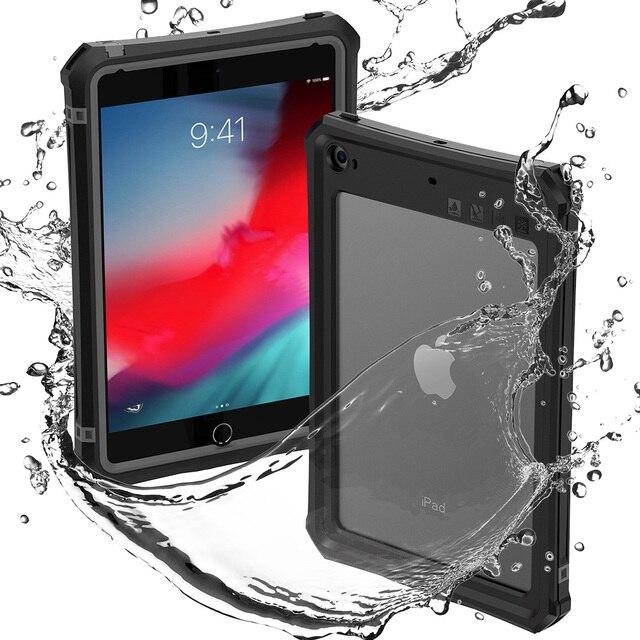لباد Mini 4 5 2019 مقاوم للماء جراب كمبيوتر لوحي مقاوم للصدمات الغبار غطاء لوحي مع حامل قابل للتعديل المدمج في واقي للشاشة