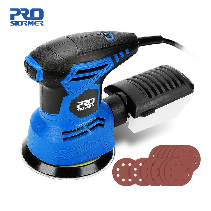 300W Random Orbit Sander 7 Variable Speed 13000RPM Orbital Sander 12Pcs Sandpapers Strong Dust Collection System PROSTORMER|Sanders|   - AliExpress