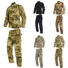 2 pçs homem uniforme militar selva camuflagem alemã combate airsoft tático calças jaqueta conjunto de roupas acu cp exército terno atacado