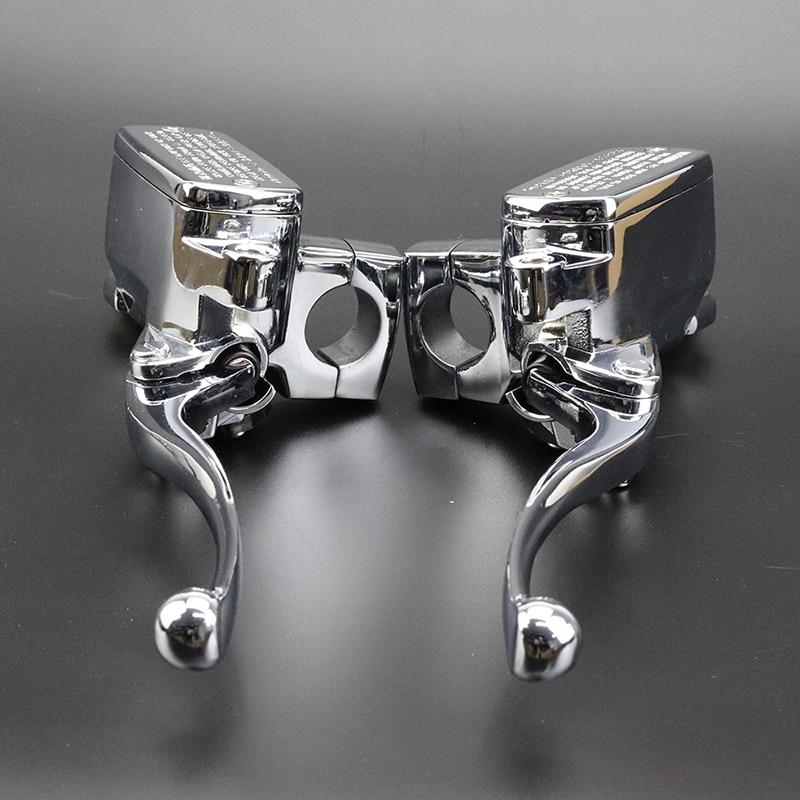 1 Pair Brake Master Cylinder Clutch Levers Fit For Suzuki Boulevard Intruder 800 1500 For Honda VTX 1800 For Kawasaki Vulcan