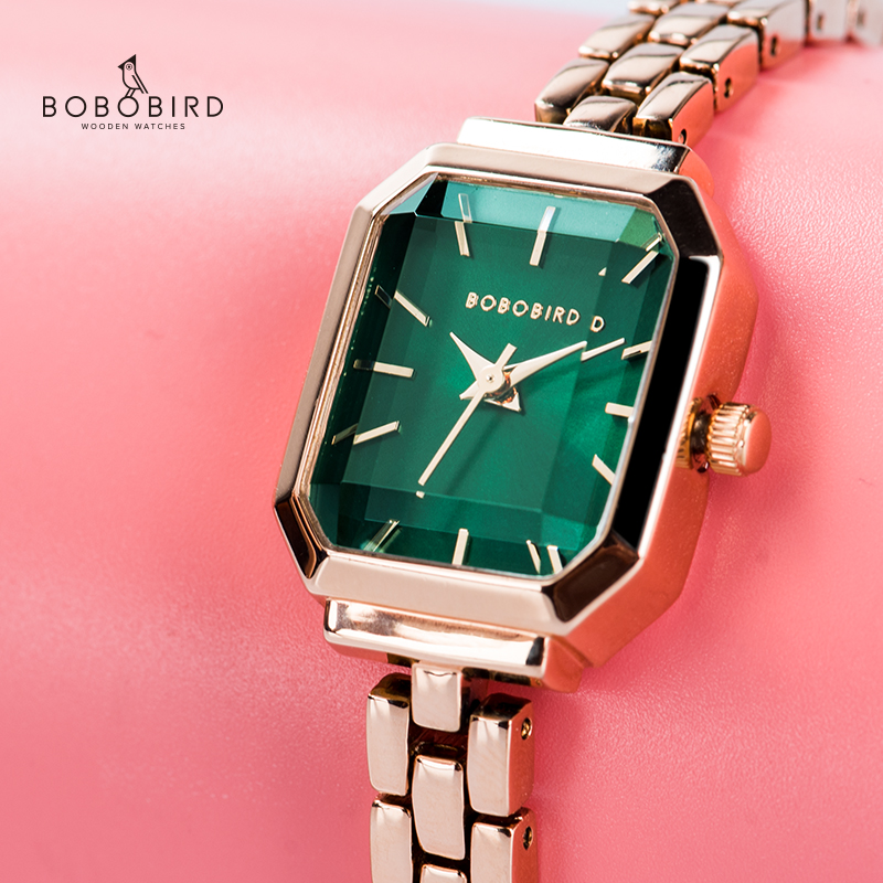 BOBO BIRD Japan Quartz Movement Watches Women Luxury Brand Stainless Steel Bracelet Watches Ladies Dress Watches Reloj Mujer