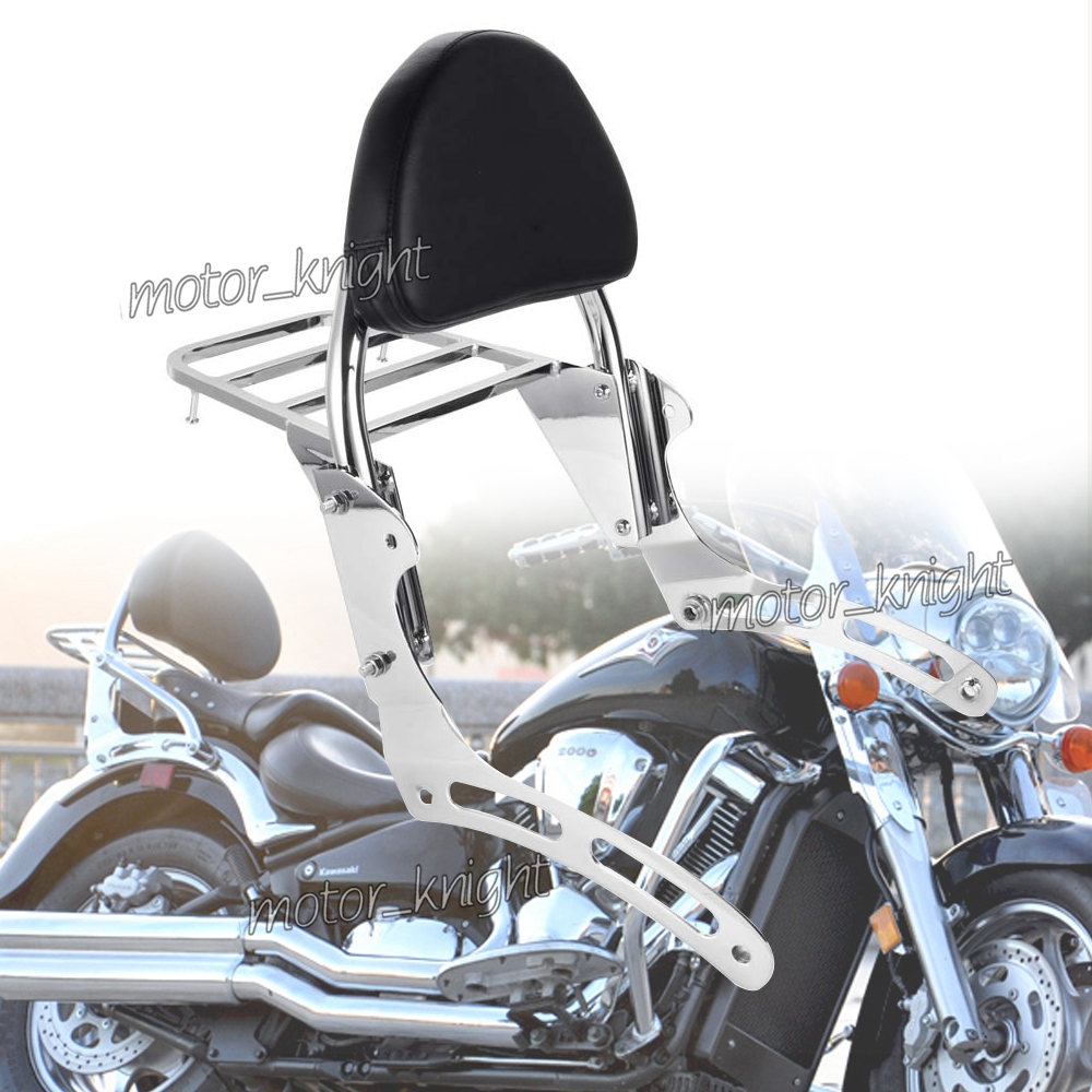 Passenger Rear Luggage Rack Support Holder Saddle Bag Cargo Shelf Backrest Sissy Bar For Kawasaki Vulcan VN 900 VN900 VN2000