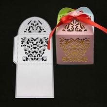 Metal Cutting Dies Hollow Gift Box Bag Stencils Scrapbooking Photo Album Decorative Embossing Folder Paper Card Maker Template