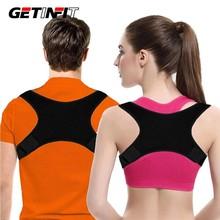 Getinfit ajustável volta postura corrector clavícula volta ombro postura correção volta cinto de apoio para adulto unisex