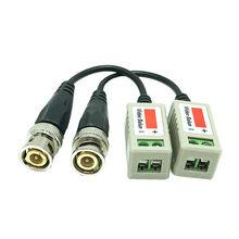 2 pces (1 pares) ahd/cvi/tvi trançado bnc cctv vídeo balun transceptores passivos utp balun bnc cat5 cctv utp vídeo balun
