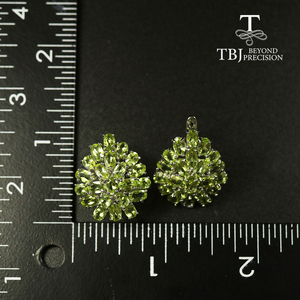 Image 5 - big size 10ct natural Peridot earring luxury party jewelry 925 sterling silver women jewelry for wife mom best gift from tbj