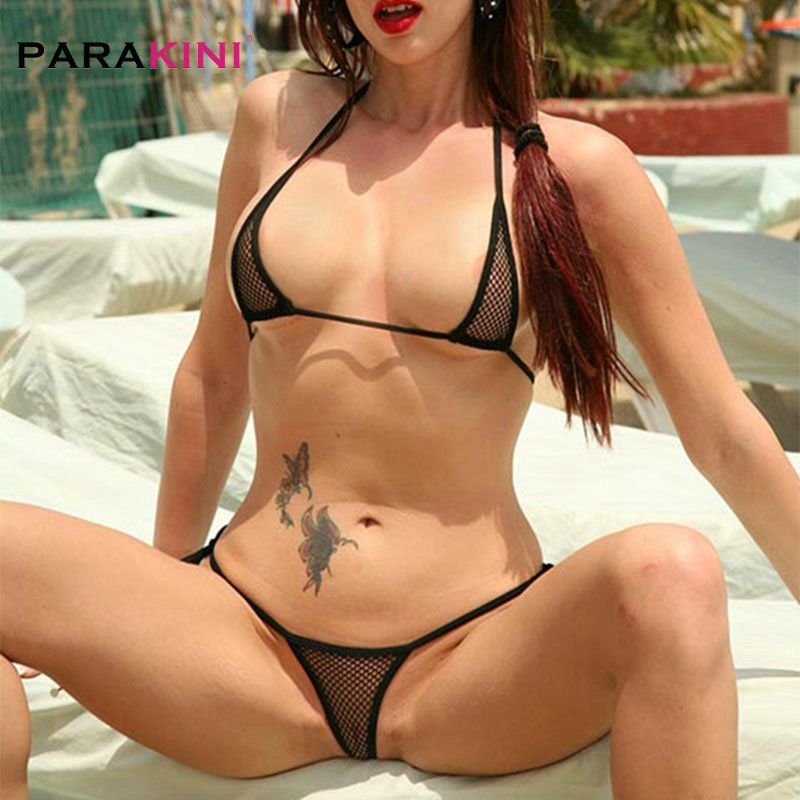 PARAKINI Transparent Mini Micro Bikini Set Women 2020 New Swimwear Bandage Bathing Beach Sunbath Biquini Thong Bikini Swimsuit
