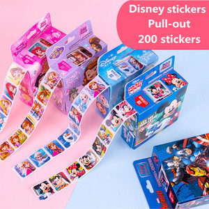 200 sheets in a box Disney Cartoon Stickers Disney Frozen Elsa and Anna Princess Sofia Mickey Children Removable Stickers Toys