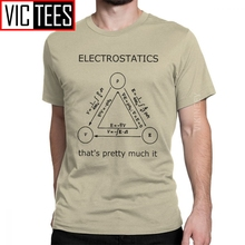 Funny Electrostatics Thats Pretty Much It T-Shirt Men Cotton T Shirt Science Physics Geek Nerd Wholesale