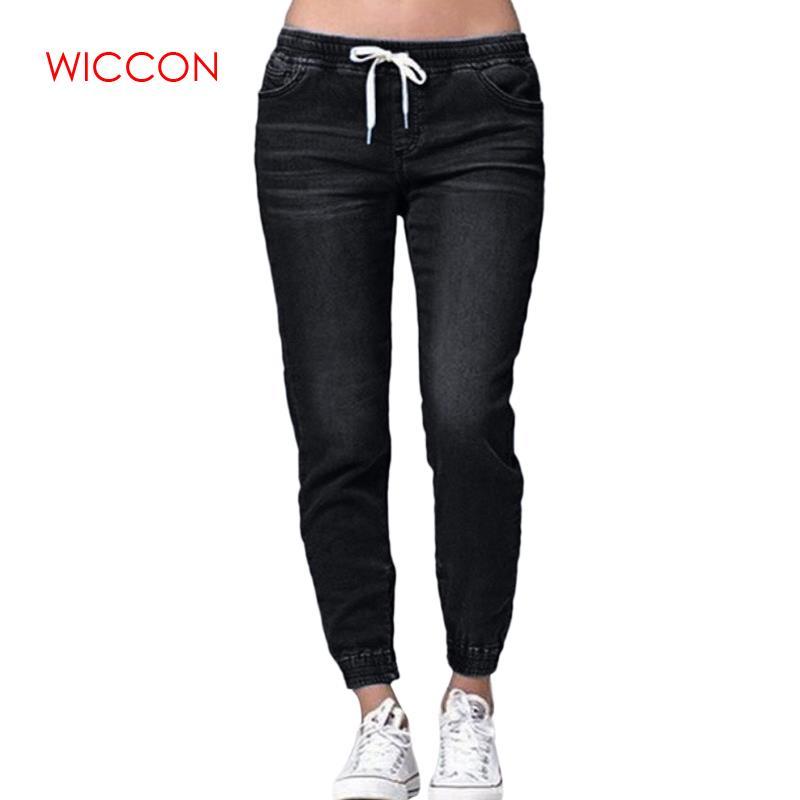 2020 Women High Waist Blue Black Pants Female Thin Skinny Pencil Jeans Brand Women Elastic Waist Casual Denim Jeans