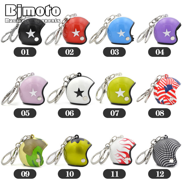 BJMOTO Helmet Keychain Cool Car Motorcycle Key Chains Mini Cute Motorcycle Pendant For Harley Sportster Gift Jewelry   29%off