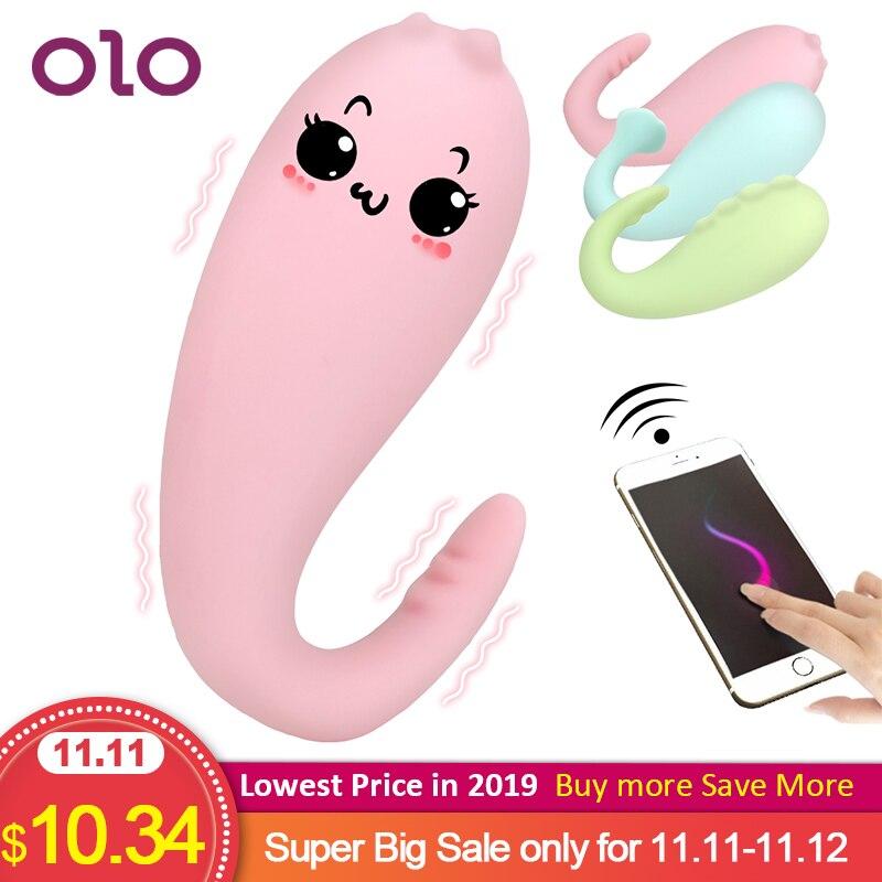 Olo silicone monster pub vibrador app bluetooth controle remoto sem fio g-ponto massagem 8 freqüência adulto jogo brinquedos sexuais para mulher