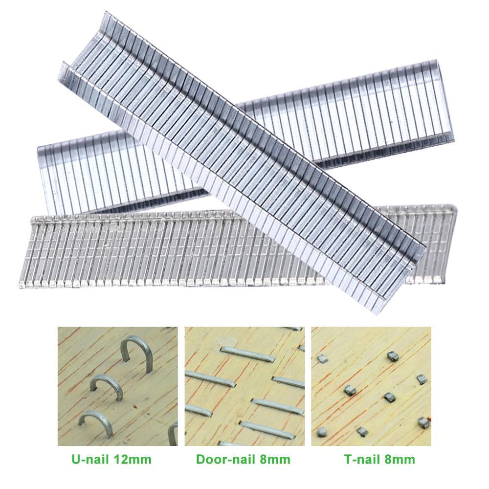 1000pcs Metal T Shape/U Shape/Door Shape Nails For Woodworking Staple Gun Stapler