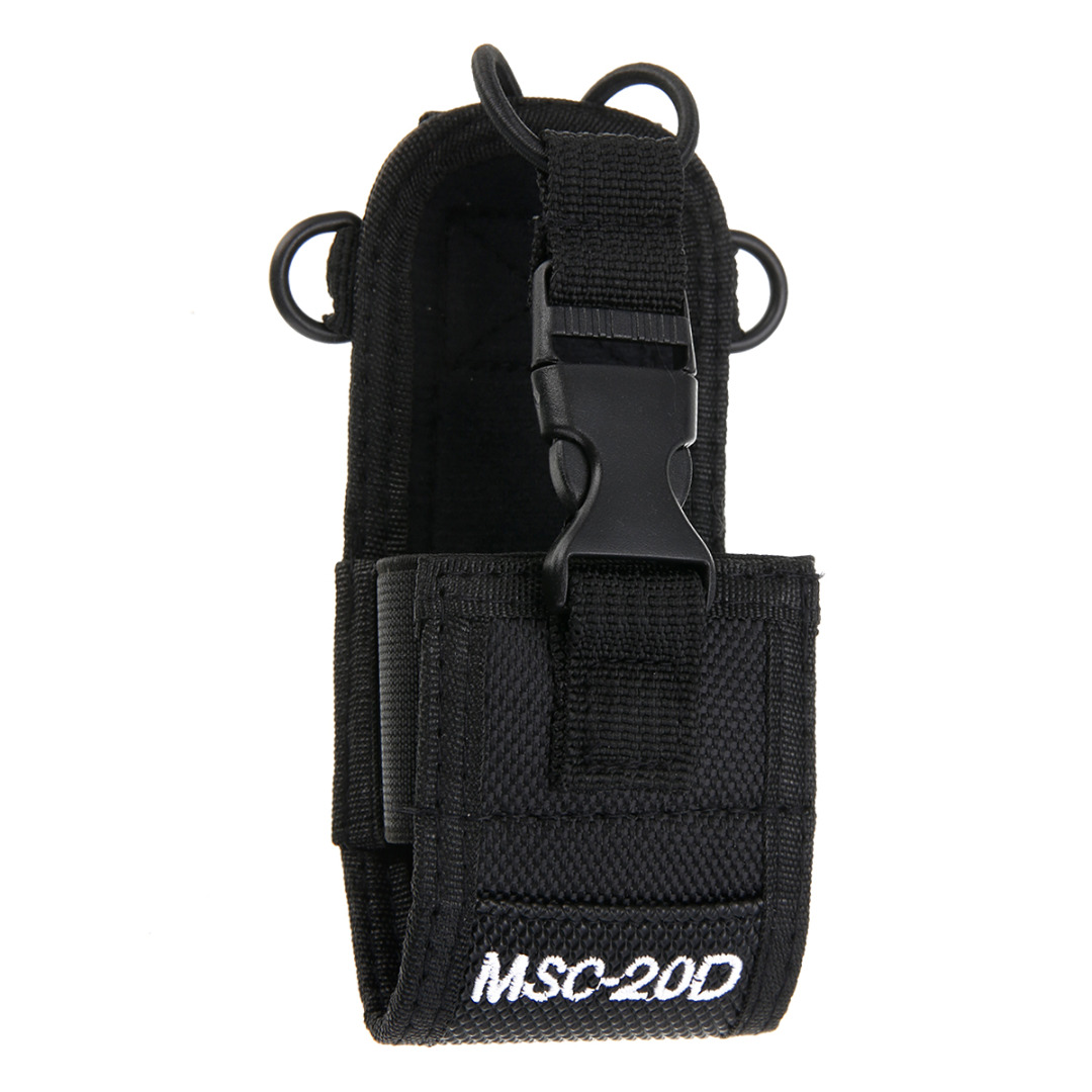MSC-20D Radio Walkie Talkie Case Holder Protable Walkie Talkie Nylon Pouch Holster Bag Case For Baofeng Motorola Kenwood Radio